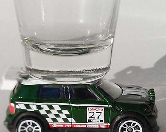 The ORIGINAL Hot Shot, Classic Hot Rods, Shot Glass, '12 Mini Cooper Countryman Rally WRC, Green, Hot Wheel