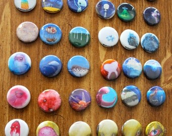 Button Magnets of Mike Boston Paintings