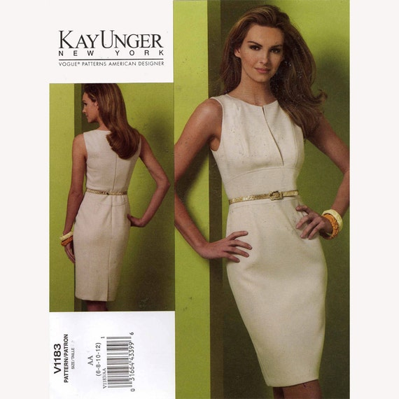 Vogue 1183 Kay Unger New York cocktail dress sewing pattern