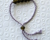 Recycled Glass Jewelry. Moonshine Beads Recycled Olive Green Wine Bottle Glass Friendship Bracelet