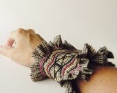 Tribal Warm Cuff - Honeycomb - Made To Order