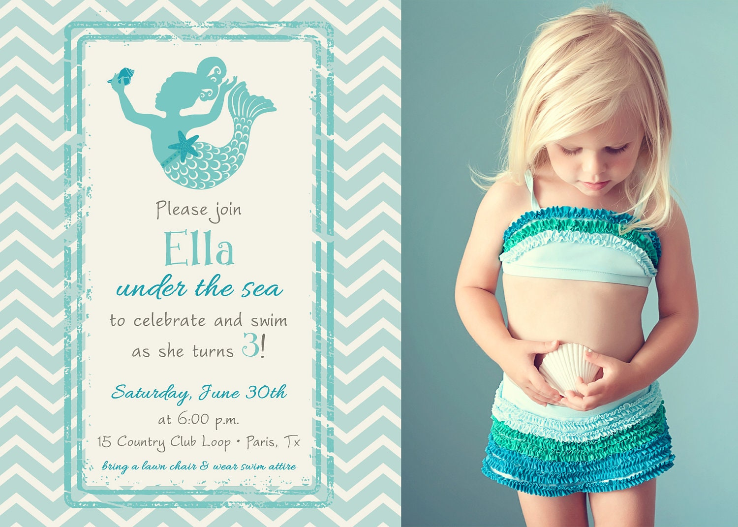 Little Mermaid Party Invitation Wording was perfect invitation template