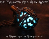Steampunk Fairy Orb Glow Locket