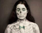 Skeleton Photograph, Surreal Portrait, Halloween Decor,  Double Exposure, Dark Art,Fine Art Print, Gothic Art