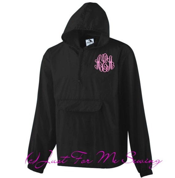 monogrammed rain jacket adult sizes