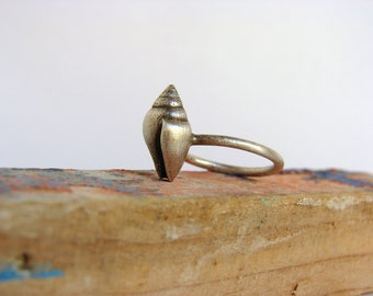 Sea Shell Nautical Sterling Silver Ring