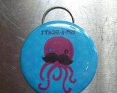 Mustache Octopus Bottle Opener/Keychain