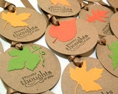 Handmade Thanksgiving Tags - Autumn Leaves - Thankful Thoughts of You (Set of 8) - AcarrdianCards
