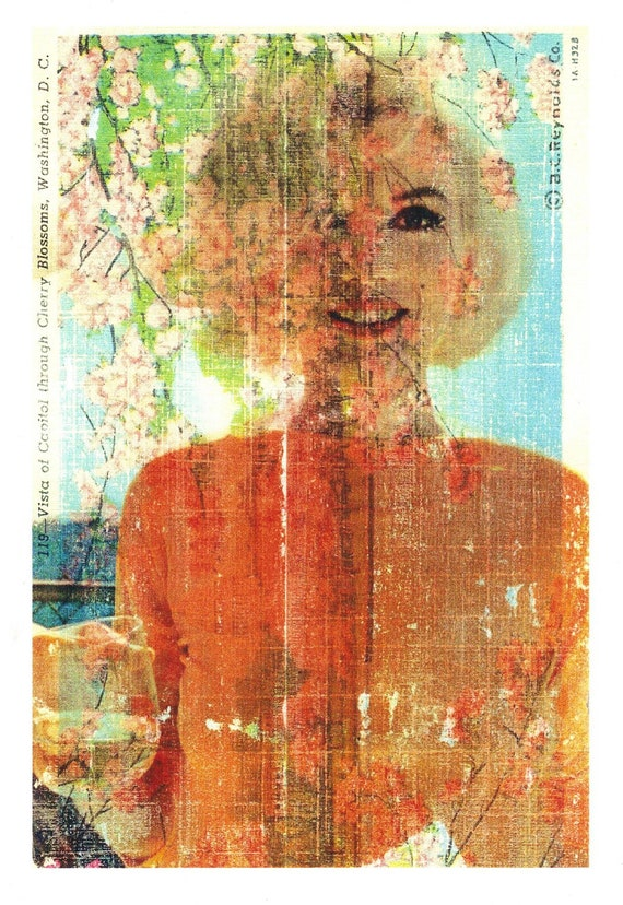 Marilyn in Washington. Collage Print