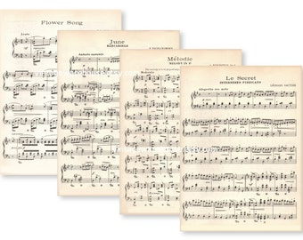 Popular items for antique sheet music on Etsy
