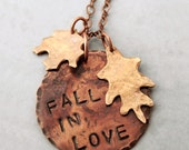 Fall in Love Stamped Pendant