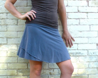 Organic Cotton & Bamboo Short Simple Skirt - Short Summer Skirt - Made to Order in Any Size and Many Colors by Yana Dee