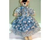 Amelia Bear Handmade Country Bear Doll
