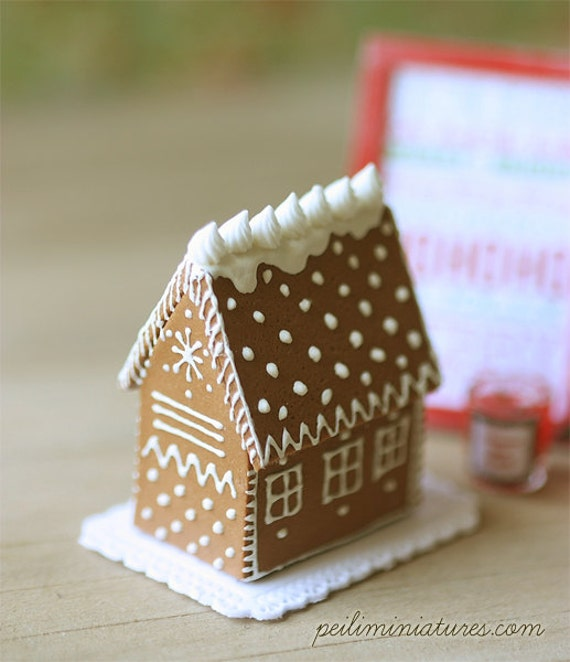 Mini Gingerbread House Diy: Items Similar To Dollhouse Elegant Gingerbread House