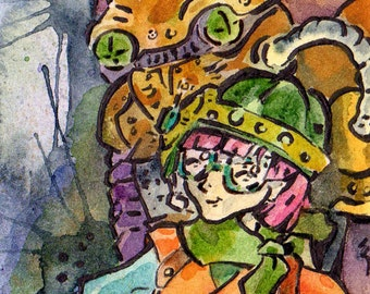 Chrono Trigger Lucca and Robo Print - Video Game Art - The Day Way After The Day After Tomorrow