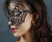 Black Widow Leather Halloween mask