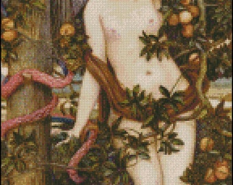 TEMPTATION OF EVE cross stitch pattern No.718