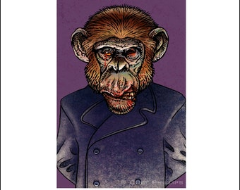 Julian Coalheart- Zombie 8 x 10 matted print