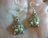 Silver Buddha Earrings, buddhism