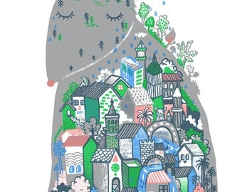 City in the Fox - B2 Original limited edition silk screen print