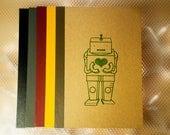 Gocco Printed Heart Robot Notebook