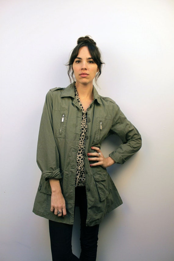 1990s Army Green Field Jacket Size S