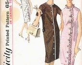 1960s SIMPLICITY 5501 Straight Button Front Dress Pattern Size 12