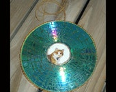 Custom suncatcher or ornament - upcycled CDs or DVDs and your photos