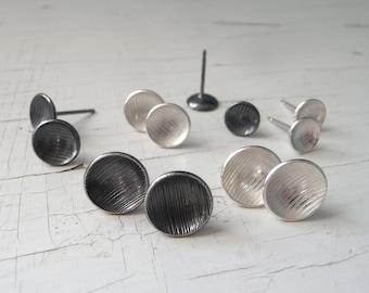 moon post earrings