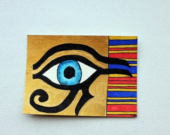ACEO Original Painting Eye of Horus/ Eye of Ra  from Tina Lynn Ellis