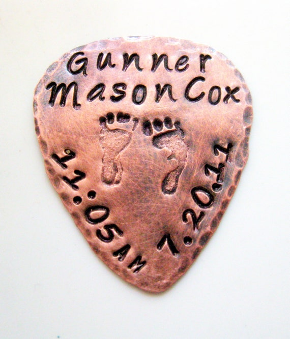 Guitar Pick Copper For Him