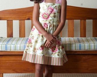 Sale..Child Halter dress, Summer child dress, Shabby Chic dress