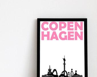 Copenhagen Print // Scandinavian Design Art Denmark