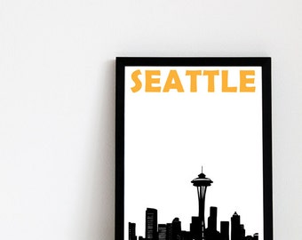 Seattle Print // Skyline Art Print