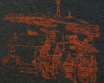 San Francisco Sutro Tower Silk-Screened Shirt