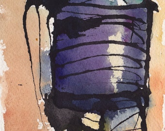 Art Painting Watercolor Sketch NYC  Water Tower  PRINT
