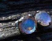 labradorite gemstone earrings, stud earrings, Brazilian jewelry