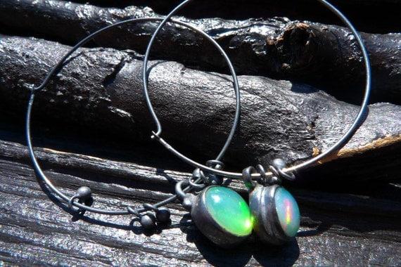 fire opal earrings by Beijo Flor