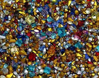 100 Assorted Swarovski Crystal Rhinestones - Fancy shapes, AB, and more