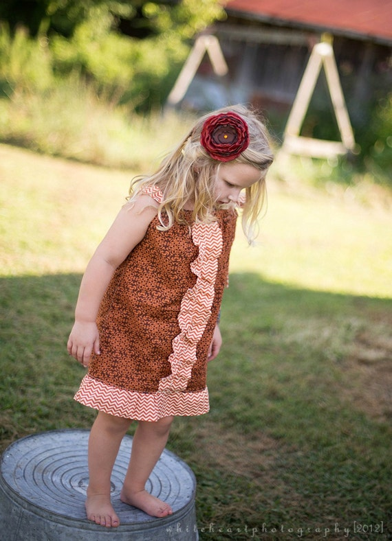 Cocoa Tangerine Girls Ruffled Swing Dress  Available in sizes Newborn to 6X