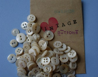 random mix of mother of pearl buttons