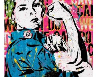 Rosie the Riveter - 12 x 18 High Quality Pop Art Print
