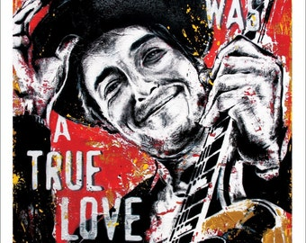 Bob Dylan - Nashville Skyline - 12 x 18 High Quality Art Print