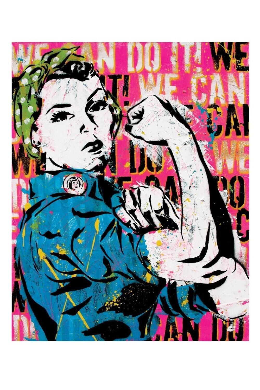 Rosie The Riveter 12 X 18 High Quality Pop Art Print