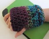 Mulberry Fingerless Mittens, Crochet Fingerless Gloves, Girls Mittens,  Hobo Mitts, Texting Gloves