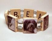 BEARDED COLLIE Bracelet / Beardie / Dog Jewelry / Unusual SCRABBLE Gifts