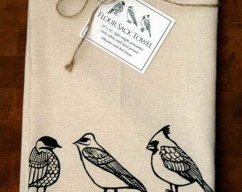 3 Wild Bird Design: Flour Sack Towel