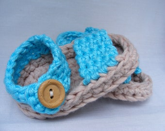 Baby Booties Crochet Pattern - Spring / Summer Baby Booties - Quick Easy and Adorable Shower Gift in 3 Sizes - 0 - 12 Months