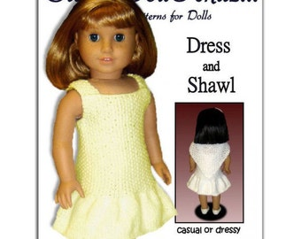 Knitting Pattern for Doll Clothes, fits American Girl Doll and 18 inch dolls. 033