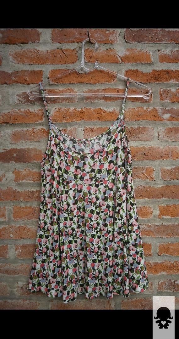 Women long tank top, summer dress  -CHERRIES I -